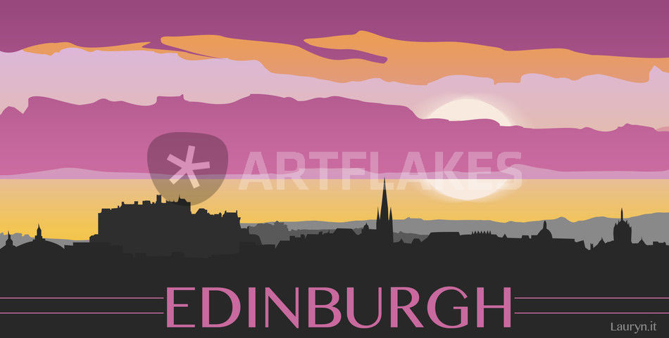 Edinburgh skyline artwork